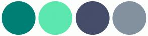 Color Scheme with #007F74 #5CE7AF #454D69 #83919F