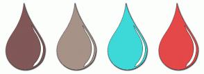 Color Scheme with #815757 #A79288 #3DD9D9 #E54848