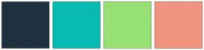 Color Scheme with #1F313E #09BAB2 #97E174 #F0937F