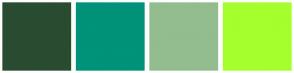 Color Scheme with #294C30 #00927A #93BD8E #A5FF2C