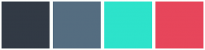 Color Scheme with #323A45 #556D80 #2DE3CB #E7465B