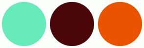 Color Scheme with #67EABC #4B0707 #EA5300