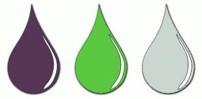 Color Scheme with #563655 #5AC740 #CBD6D0