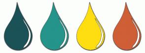 Color Scheme with #1B5257 #25948A #FFDE10 #CF5F36
