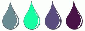 Color Scheme with #6A8B92 #15FFA5 #5B4D7E #4A1448