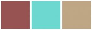 Color Scheme with #975351 #6DD8CF #BFA684