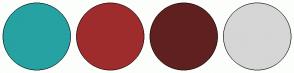 Color Scheme with #26A2A3 #9F2C2D #602020 #D6D6D6