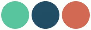 Color Scheme with #58C59F #214D65 #D26A53