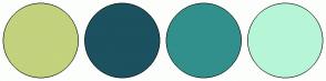 Color Scheme with #C2D27D #1C5160 #32908C #B6F6D7