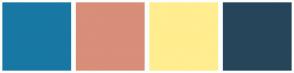 Color Scheme with #1878A3 #D88E79 #FFED8F #26455A