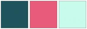Color Scheme with #1F545C #E85C7B #C8FBEB