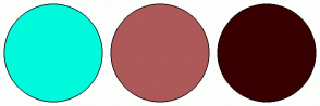 Color Scheme with #00FADC #AE5959 #380000