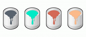 Color Scheme with #59636E #00EBC7 #D46956 #FBBA8B