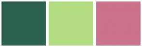Color Scheme with #2C614F #B4DD82 #C97289