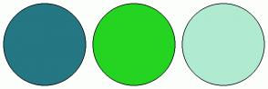 Color Scheme with #247783 #24D421 #B0EAD1