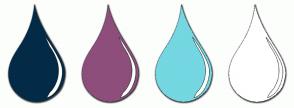 Color Scheme with #032B47 #8E4E7B #74D7E1 #FFFFFF