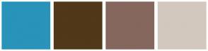 Color Scheme with #2993BA #503819 #85675E #D3C8BE