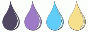 Color Scheme with #514863 #9E7BC7 #60CDF9 #F6E08D
