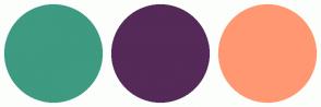 Color Scheme with #3E9A81 #552958 #FF9872