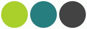 Color Scheme with #A9D02B #277E7E #434343