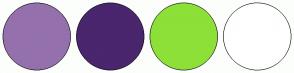 Color Scheme with #9471AD #49266D #8DE037 #FFFFFF