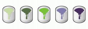 Color Scheme with #C8DCA5 #586F48 #79C239 #807DAD #492D60