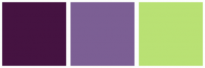 Color Scheme with #451341 #7C5F94 #B9E174