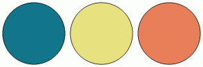 Color Scheme with #12768A #E8E180 #E87F59