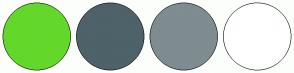 Color Scheme with #63D82B #4E6269 #7F8C90 #FFFFFF