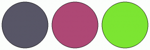 Color Scheme with #585667 #AE4875 #7CE532