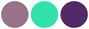 Color Scheme with #987289 #32E1AB #512A67