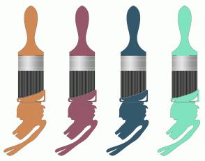 Color Scheme with #CE8955 #96576A #33586B #7FE3C0