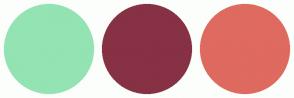 Color Scheme with #94E3B2 #873144 #DF6A5F
