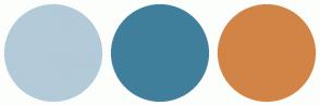Color Scheme with #B3CAD9 #407F9C #D28447