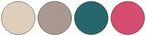 Color Scheme with #DFCEBB #A99990 #27676D #D64D71