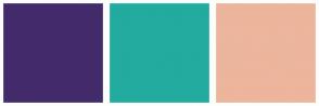Color Scheme with #432B6B #22AB9F #ECB59C