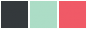 Color Scheme with #34393C #ACDDC6 #F05A67