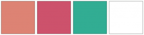 Color Scheme with #DD8374 #CD526C #32AD93 #FFFFFF