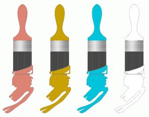 Color Scheme with #DD8374 #C9A102 #01C4DC #FFFFFF