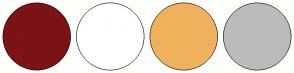 Color Scheme with #7B1317 #FFFFFF #F0B15D #BBBBBB