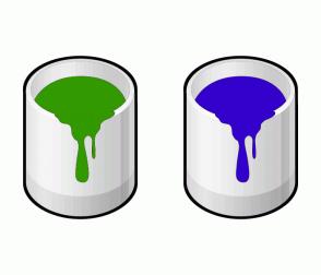 Color Scheme with #339900 #3300CC