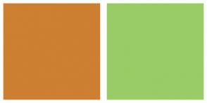 Color Scheme with #CD7F32 #99CC66