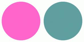 Color Scheme with #FF66CC #5F9F9F