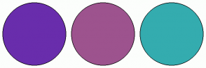 Color Scheme with #692DAC #9D538E #34ACAF