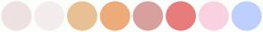 Color Scheme with #EEE2E2 #F3EDED #E9C094 #EDAB79 #D7A09D #E87C7C #FAD1E1 #BDCFFF