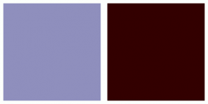 Color Scheme with #8F8FBD #330000