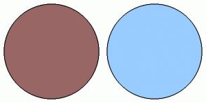 Color Scheme with #996666 #99CCFF