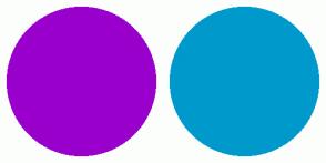 Color Scheme with #9900CC #0099CC