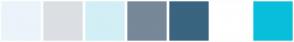 Color Scheme with #EBF4FA #DBDFE3 #D2EFF6 #778899 #3A6480 #FFFFFF #08BFDB