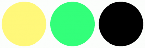 Color Scheme with #FFF87A #33FF7A #000000